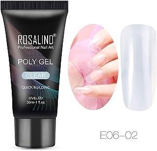ROSALIND semi-permanente de poli-gel de extensión de uñas jalea de cristal lámpara UV arte decoración 30ml