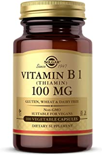 Solgar Vitamina B1 (Tiamina) 100 mg Cápsulas vegetales - Envase