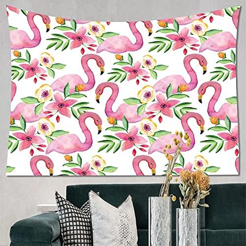 Impresión 3D HD estilo de explosión flamenco tapiz colgante de pared sala de estar decoración del dormitorio tapiz de tela de fondo A11 100X150CM