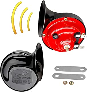 Motorcycle Horn with Bracket Dual-tone Snail Vehicle Horn Universal Electric Air Horn 12V 110 dB Car Truck (1 Pair)