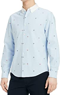Mens Small Embroidered Button Down Shirt