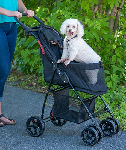 Pet Gear Happy Trails Pet Stroller for Cats/Dogs, Easy Fold with Removable Liner, Storage Basket (PG8030NZJGA) 4