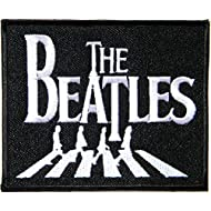BEATLES yellow submarine band in stripes embroidered printed ironsew on patch 9 x 8 centimetres  3.5 x 3.25 inches brand NEW