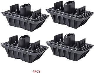 Zerama Reemplazo 4PCS Duradero Negro plástico del Coche Adaptador de Enchufe para Mat Pad para BMW