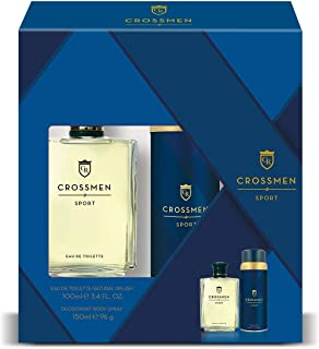 Crossmen Original Set para Hombre: Eau de Toilette Natural Splash 100 ml + Desodorante Body Spray 150 ml