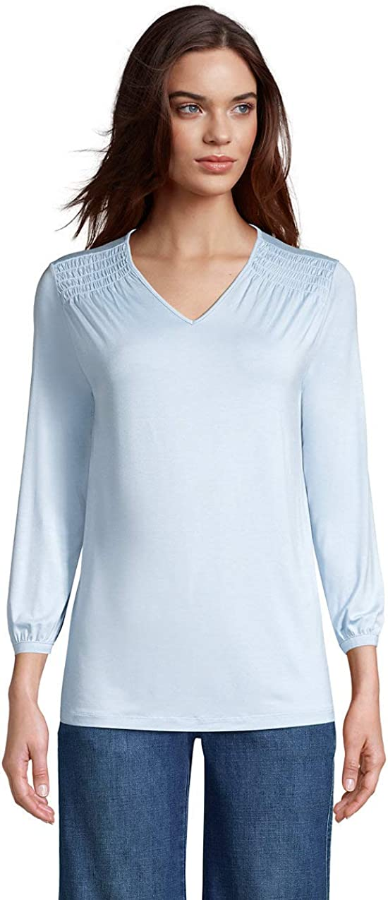Lands' 爆買い新作 End Women's Jersey ※アウトレット品 Knit Top 3 V-Neck 4 Sleeve