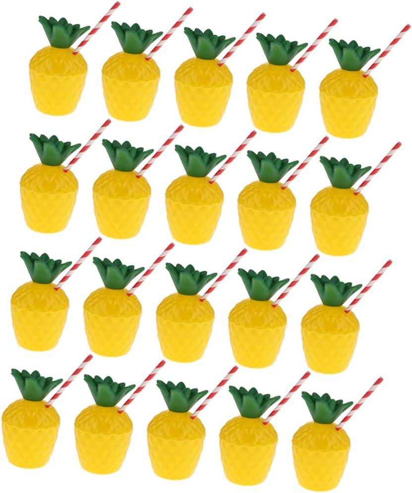 joyMerit 20 Packs Pineapple Cups for Hawaiian Luau Kids Party wi