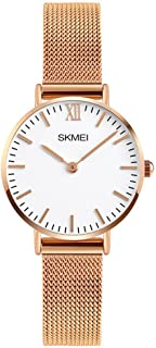 Women's Quartz Watches Ultra-Thin Gorgeous Simple Petite Wrist Watches Small Dial Mesh Steel...