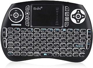 Ewin ワイヤレスキーボード2.4GH ミニ型 タッチパッド搭載 日本語配列 マウスセット一体型 バックライト搭載 ポータブル 無線キーボード 薄型 軽量 iOS、Android、Windows 、PS3 / PS4、スマートTV様々なデバイ...