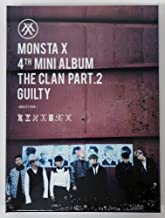 Starship Entertainment Monsta X - The Clan 2.5 Part.2 Guilty (4th Mini Album) [GUILTY Ver.] CD with Folded Poster Extra Gift Photocard Set