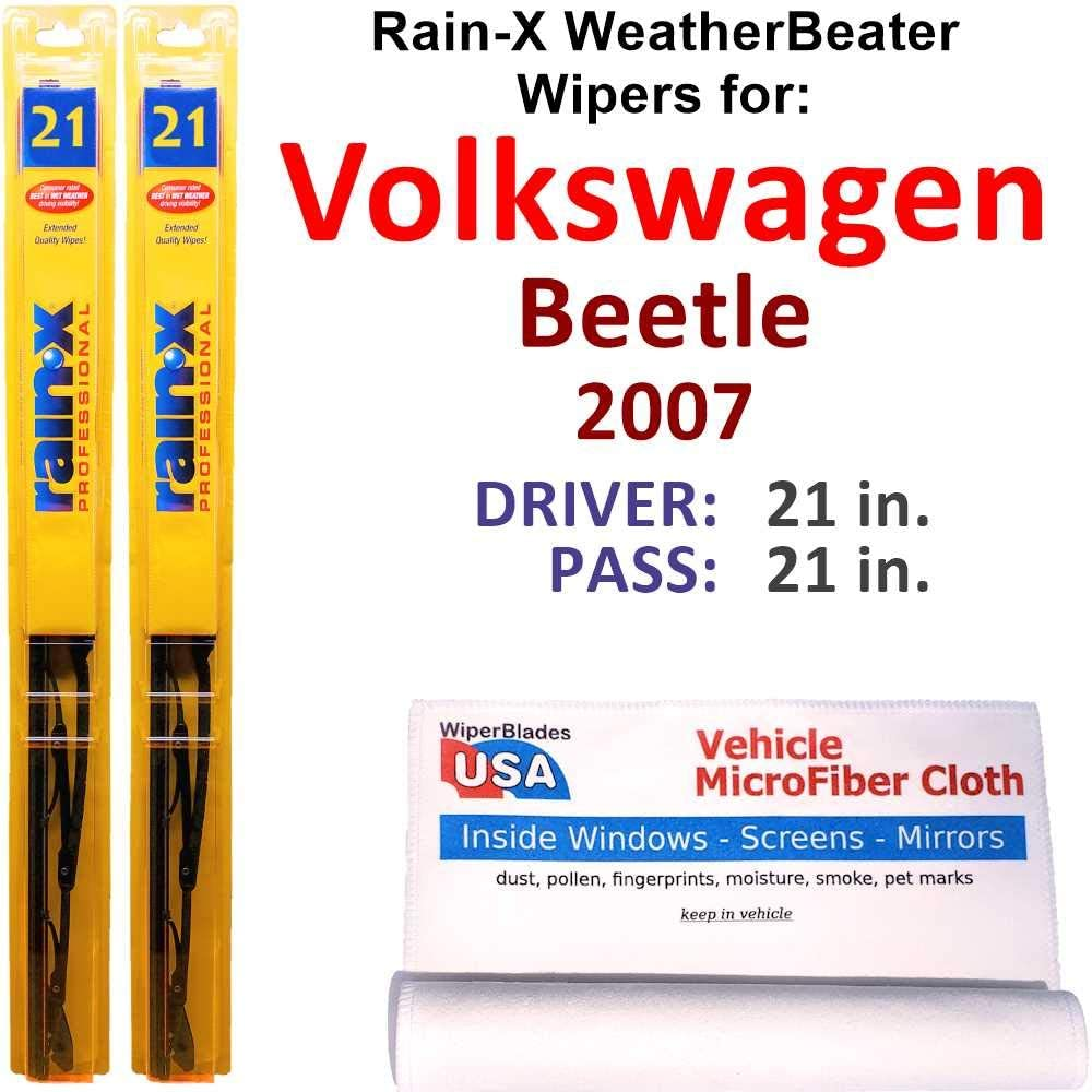 Rain-X Max 49% OFF WeatherBeater Wiper Blades for Beetle Volkswagen Set Clearance SALE Limited time 2007