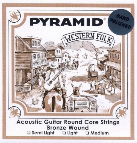 Pyramid 013-056 Westerngitarren Saiten polished round core