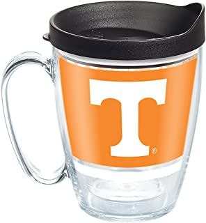 Tervis 1288111 Tennessee Volunteers Legend Coffee Mug With Lid, 16 oz, Clear