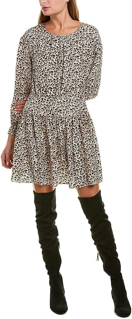 Rebecca Taylor Women's Long Sleeve Leopard Dress