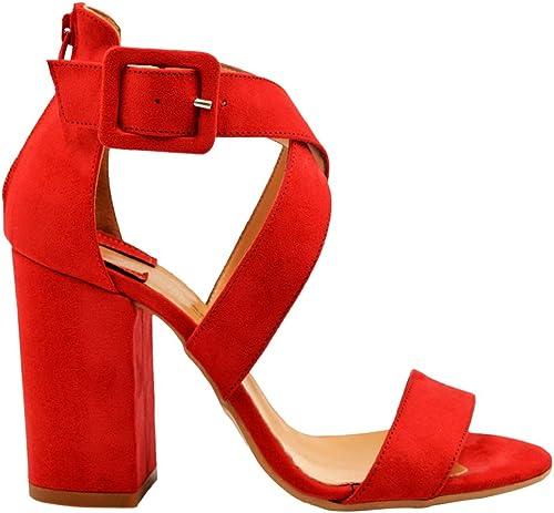 CARLA SANCHEZ ROMA - zapatos de Vestir de Ante para mujer rojo rojo