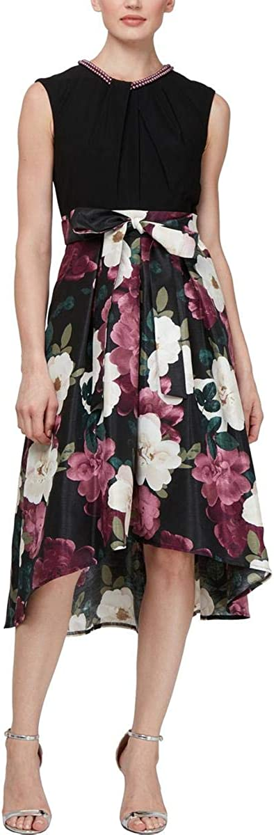 S.L. Fashions Women's Floral Printed Party Dress
