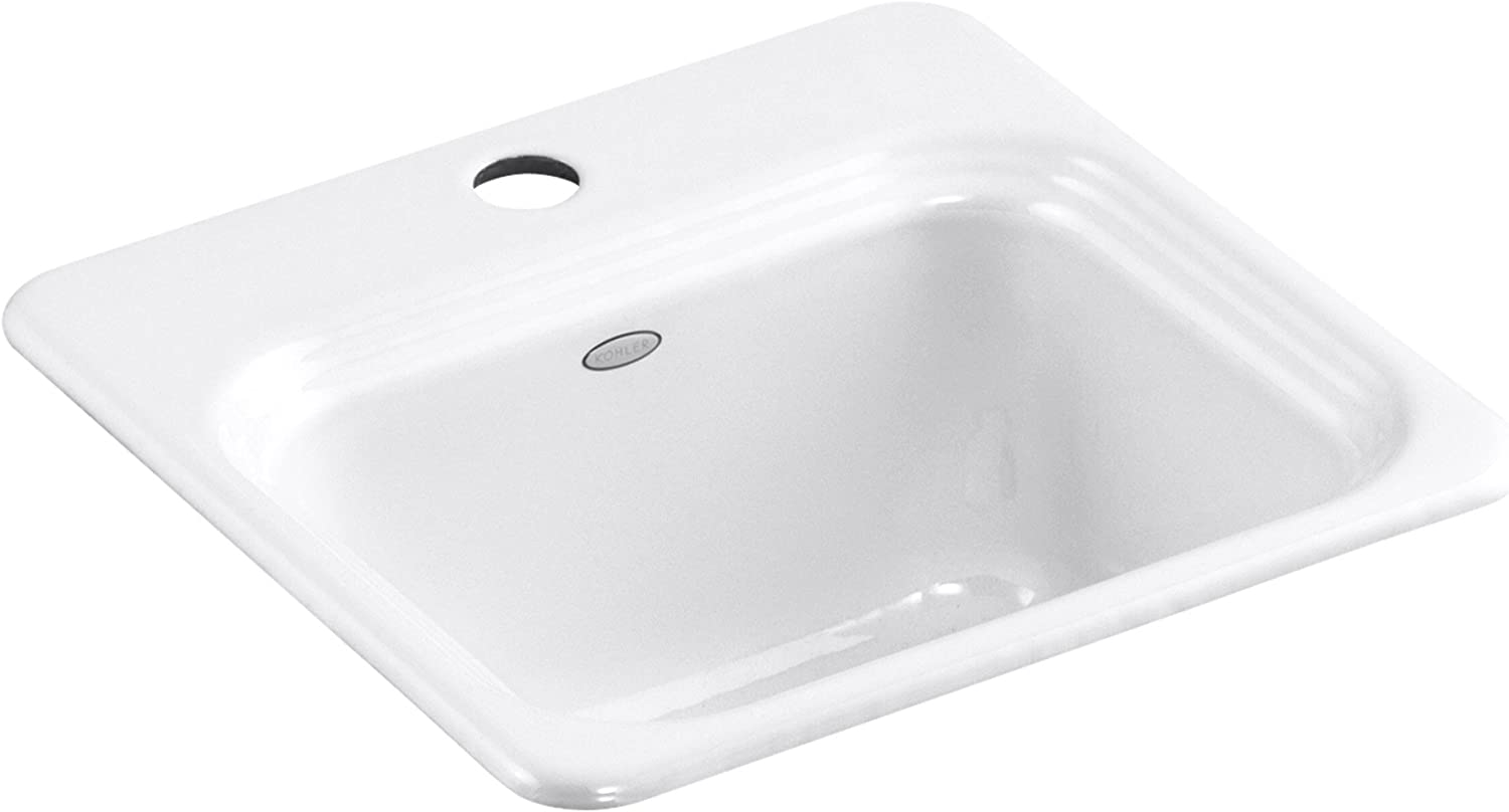KOHLER K-6579-1-0 Northland Self-Rimming Cheap mail order specialty store Whi Animer and price revision Sink Entertainment
