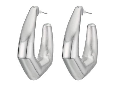 Kendra Scott Kaia Hoop Earrings (Rhodium Metal) Earring