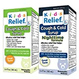 Kids Relief Cough & Cold Syrup Combo Daytime & Nightime Formula for Kids 0-12 Years
