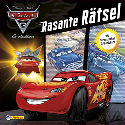 Disney Cars 3: Rasante Rätsel: Mit turbostarken 3D-Stickern