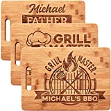 Gifts for Dad - Dad Grilling, Personalized Dad Cutting Board - Christmas Gifts for Men - Grill Master Series - 12 Designs - 9.8' x 13.8' - Custom Gifts for Dad, Husband - Dad Gifts from Wife, Daughter