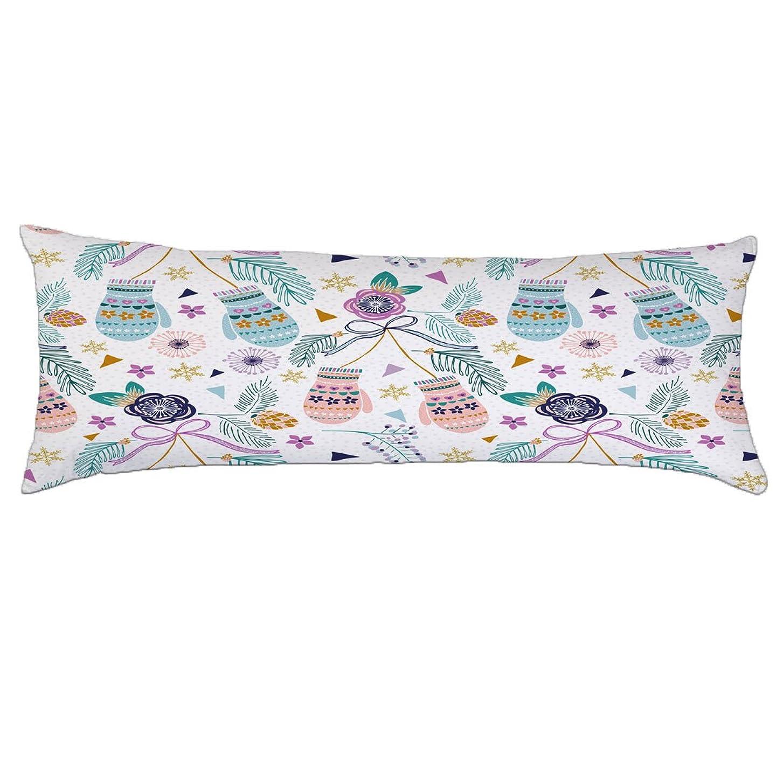 バンガロー例外冊子Alicia Haines ホーム装飾枕カバー コットンロング抱き枕ケース 20x54インチ(ウォームグローブ)