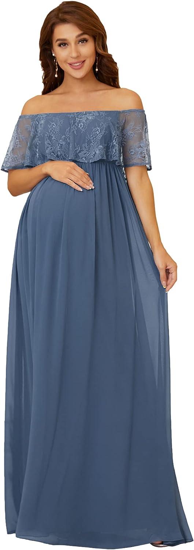 Ever-Pretty Women's Off-Shoulder Long Chiffon Maternity Formal Party Dress 20813
