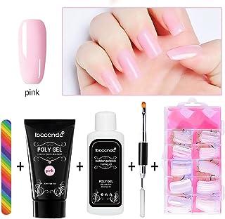 Surenhap Kit de Esmaltes de Uñas Semipermanentes para Regalo de Uñas de Gel de Colores - Poly Gel + Nail Liquid + Modelo N...