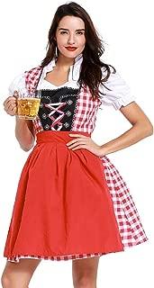 Ausexyy Women Bavarian Oktoberfest Maid Dresses Beer Festival Halloween Cosplay Costumes