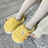 Kirin-1 Pantuflas Invitados,Zapatillas de algodón para Mujer, Invierno, hogar, Engrosamiento y Calidez, Lindas Zapatillas de felpa-40/41_Amarillo