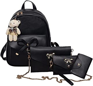 VJGOAL Damen Rucksack, 1 Sätze Frauen Mädchen Mode Rucksack Handtasche Schultertasche Schuleinkaufstasche Crossbody Frau G...