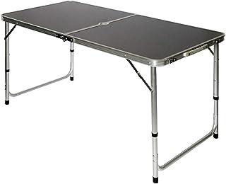 comprar comparacion AMANKA Mesa para Acampada 120x60x70cm de Aluminio Plegable portátil como si Fuera un maletín Altura Regulable para pícnic ...
