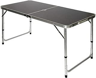 AMANKA Mesa para Acampada 120x60x70cm de Aluminio Plegable