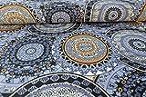Avalana Jersey Stoff mit Ornamenten auf Blau als Meterware