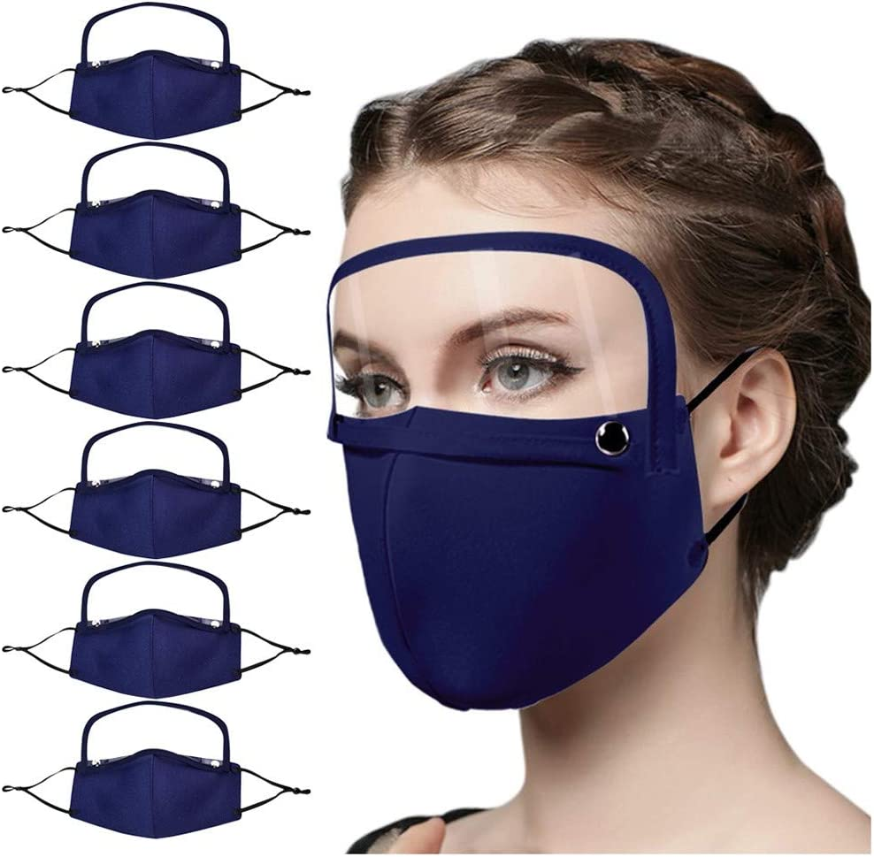Benficial 7PCS Adult Anti-Dust Windproof Dustproof Washable Reusable Protect with 10PC Filter,Safety Breathable Cycling Cotton Protection