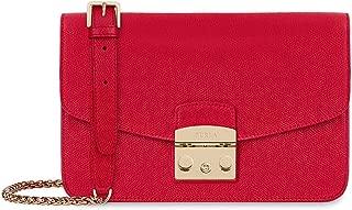 Furla Metropolis Ladies Small Red Ruby Leather Shoulder Bag 972393