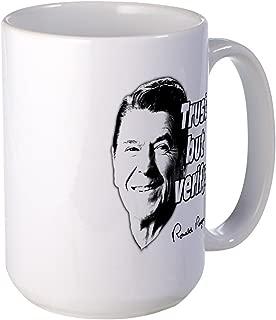 CafePress Ronald Reagan Quote Trust But Verify Large Mug Coffee Mug, Large 15 oz. White Coffee Cup