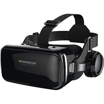 """VR Casque de Réalité Virtuelle, FIYAPOO Lunettes 3D Jeux Vidéo Lunettes pour 4.7""""- 6.6"""" iPhone Samsung Moto Android Smartphones 3D Films et Jeux (Lunettes 3D avec Casque)"""