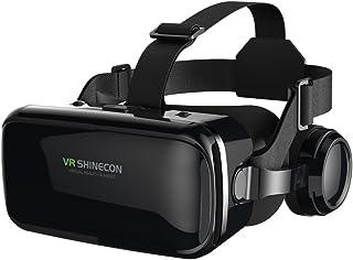 """VR Casque de Réalité Virtuelle, FIYAPOO Lunettes 3D Jeux Vidéo Lunettes pour 4.7""""- 6.6"""" iPhone Samsung Moto Android Smartp..."""