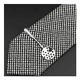 LUOSI Fibra 1 Pieza en Forma de Cromo Inoxidable de los vidrios Coche Avión Tenedor Metal de la Cuchara de Plata del Clip de Lazo for los Clips de los Hombres Corbata Pin for Hombres Regalo