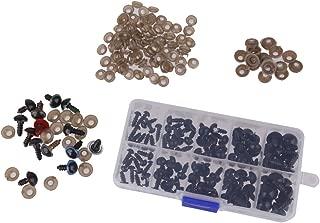 114pcs Mezcla Ojos De Seguridad De Plástico De Color