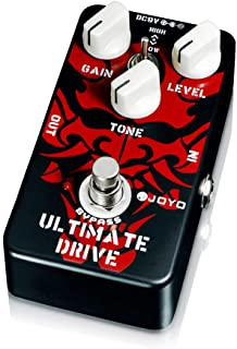 JOYO Ultimate Drive Overdrive Pedal and Rich Bordering-on-Distortion Overdrive for Electric Guitar Effect Bypass (JF-02)