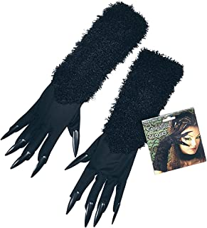 Black Cat Gloves With Claws