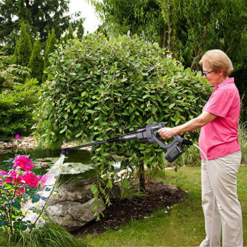 VARSK Cordless Pressure Washer, 20V 4.0Ah Max 380 PSI Portable Pressure Washer, Battery and Charger Included, Suitable for Washing Cars, Watering Flowers, Cleaning Floors, etc. VAR-910