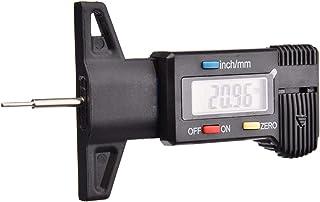 Obobb Ferramenta de medição de profundidade do pneu, medidor digital da rosca do pneu, medidores de profundidade da banda ...