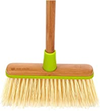 Full Circle Clean Team Brush & Dustpan Set, Bamboo Recycled Plastic, Green, 1.2125 pounds