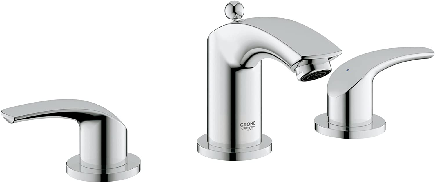 Grohe Eurosmart New excellence 8 in. 3-Hole overseas Fa 2-Handle Bathroom Widespread