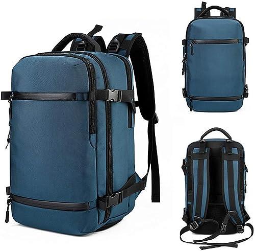DBSCD Sac à Dos extérieur USB, Multifonction 50LTravel Daypack Sac à Dos de Voyage imperméable de Grande capacité, Sac à Dos pour Homme, Camping, Escalade, Course à Pied