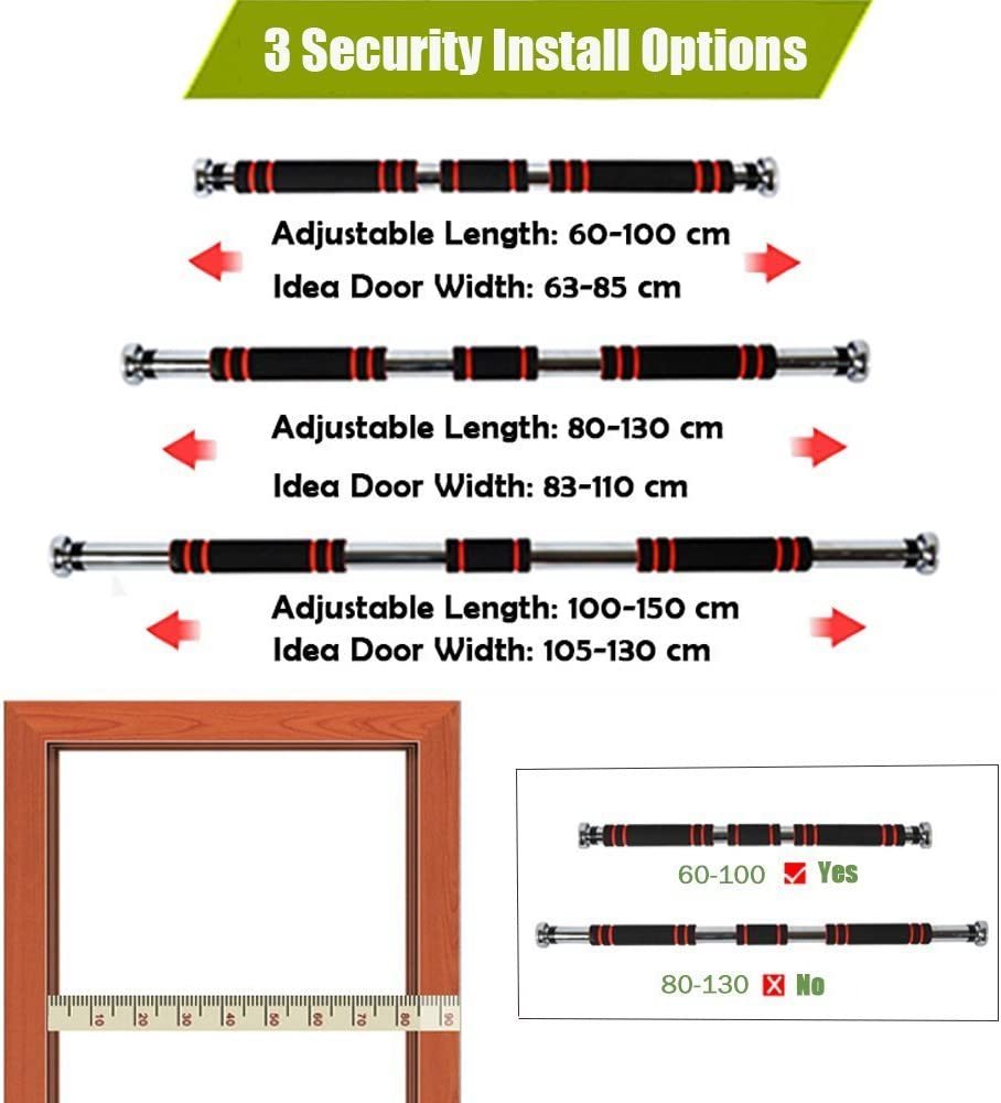Doorway Pullup Bar//Chinup Bar with Screw-in Door-Mounts Home-Neat Pull Up Bar