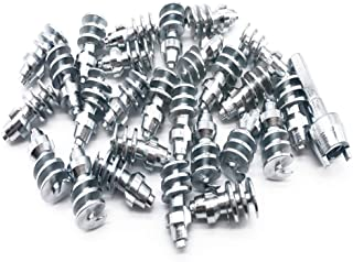Screw in Tire Stud,Spikes for tire,Marrkey 100PCS Steel Body Carbide Tips [Security Anti-Skid] Wheel Tyre Snow Tire Spikes for Loaders Tractors Skid Steer Truck MS1911(11 x 22.8mm)